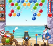 Стрелять шары Пират Арчи три в ряд игра Bubble Shooter Archibald the Pirate