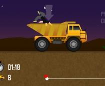 Самосвал нагруженный телами странные гонки перевозка людей игра Body Dumper