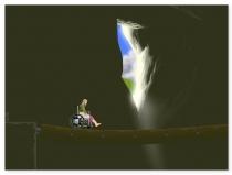 Колеса удачи гонки по прямой по горам удержаться игра Happy Wheels