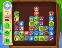 Маджонг Найди пару зверям в джунглях игра без флеш Duos Tropical Link
