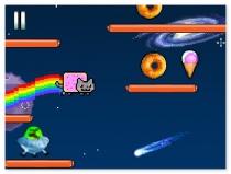 Нян Кэт в Космосе бродилка прыгать с котом Nyan Cat Lost in Space