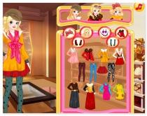 Одень Подружек Зима игра для девочек одевалка макияж Winter Besties Dressup