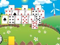 Пасьянс Веселая Ферма собери 11 в сумме карта игра Farm Solitaire
