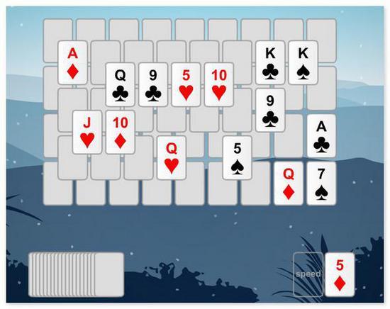 Игра в карты солитер