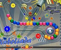 Пинболиада Зума Сага о Пинболе цветные шарики игра Pinboliada