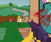 Симпсоны стрелялка в 3D Спасти Спрингфилд игра Simpsons 3d Save Springfield