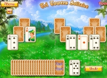 Пасьянс Три башни разложить карты игра Magic Tower Solitaire
