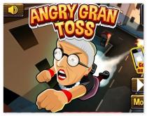 Злая бабушка катапульта злая бабуля стрелять из пушки Angry Gran Toss