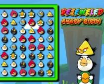 Драгоценные Злые Птички три в ряд игра собирать птиц Bejeweled Angry Birds