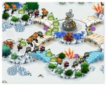 Зомби Зума три зомби против растений в ряд трехмерная пазл аркада игра zombie zuma