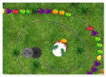 Зума Кролик в огороде три шарика в ряд Rabbit Zuma