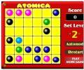 Атомы atomica линии шарики три в ряд пять в ряд