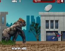 Кинг Конг большая плохая обезьяна разрушает город игра Big Bad Ape