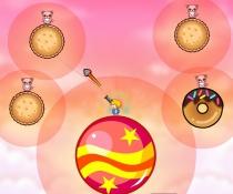 Сладкий Мир стрелять по котам на пончиках баллистика игра Candy World