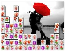 Маджонг День Святого Валентина найди пару игра Valentine Tiles