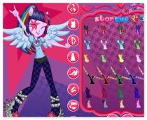 Рок звезда девушки эквестрии одевалка Rock Star Equestria