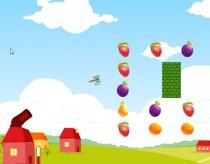 Стрелять фрукты на ферме баллистика сбить все фрукты игра Fruit Farm Shooting