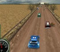 Ралли Лихорадка на трассе в 3D гонки с препятствиями игра 3D Rally Fever