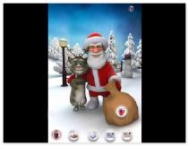 Говорящий Санта и говорящий кот Том игра Talking Tom Santa