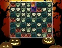 Жуткие Приключения пазлы три в ряд пятнашки про Хэллоуин Spooky Adventures