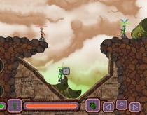 Боевые Биороботы перестрелка игра как вормикс червячки Bionoids