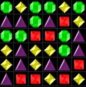 Крутящиеся Драгоценные камни пазлы три в ряд Jewels 3D