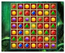 Камни совпадения драгоценности 3 в ряд игра Gem Match Deluxe