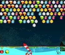 Стреляй елочные игрушки шарики в Рождество игра Bubble Hit Christmas