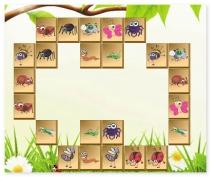 Маджонг в саду найди пару насекомые Mahjong in the Garden