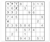 Судоку классическое головоломка с цифрами Number Place