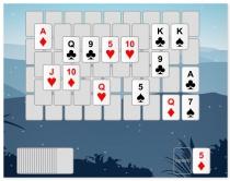 Пасьянс Пики Шесть Горных Вершин игра карты солитер 6 Peaks Solitaire