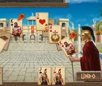 Пасьянс 300 спартанцев найти пару картам разложить игра Spartan Solitaire