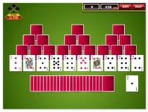 Пасьянс Три Пики карточная игра Solitaire Tri Peaks