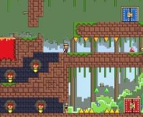 Pixel Quest Пропавшее Сокровище Ретро Квест игра бродилка решение задачек Lost Idols