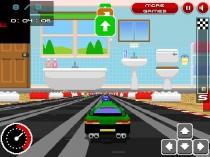 Гонки в стиле ретро в 3Д мини машинки гонять по столу игра Retro Racers 3D