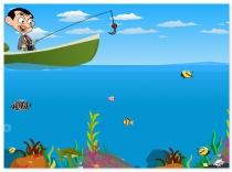 Рыбалка Мистера Бина поймать рыбу Mr Bean Fishing