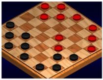Шашки настольная игра для двоих или одного игрока Checkers