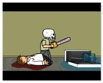 Человек Череп пилить резня бензопилой игра The Skull Man