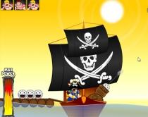 Злые пираты стрелять ядрами с корабля баллистика игра Angry Pirates