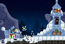 Злое Рождество игра как Ангри Бердс Crazy Christmas